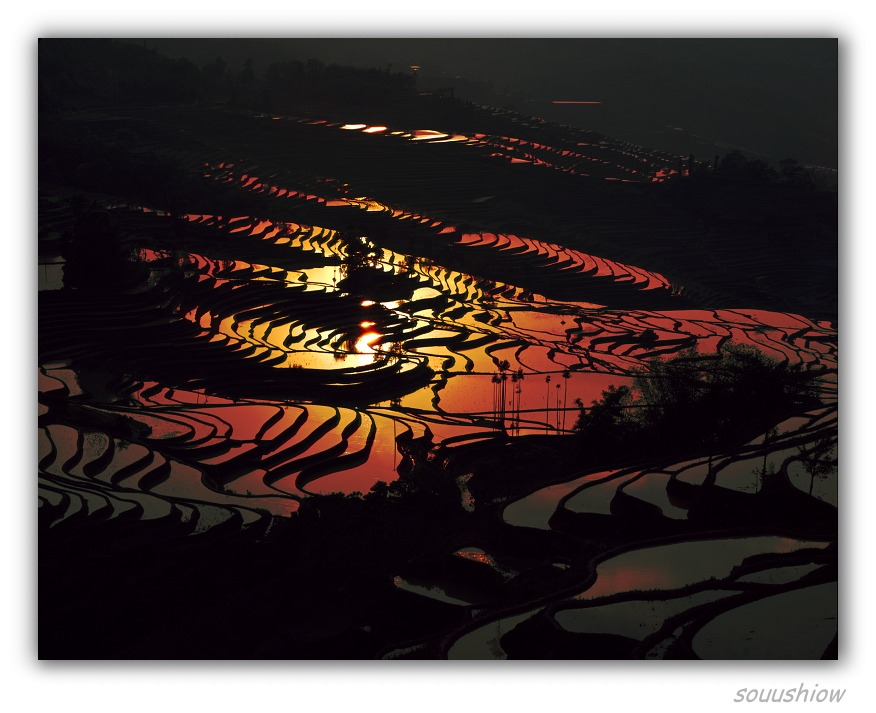 "photo ""Backward terraced fields of sun"" tags: landscape, sunset"