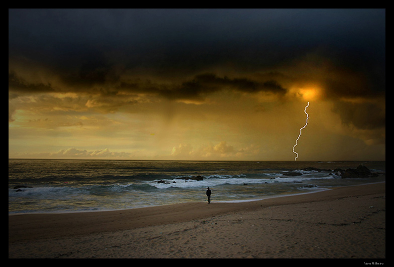 "photo ""Watching the storm."" tags: landscape, sunset"