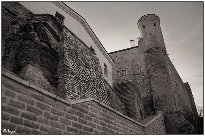 "photo ""Fairy tales of Old small town"" tags: black&white, architecture, landscape,"