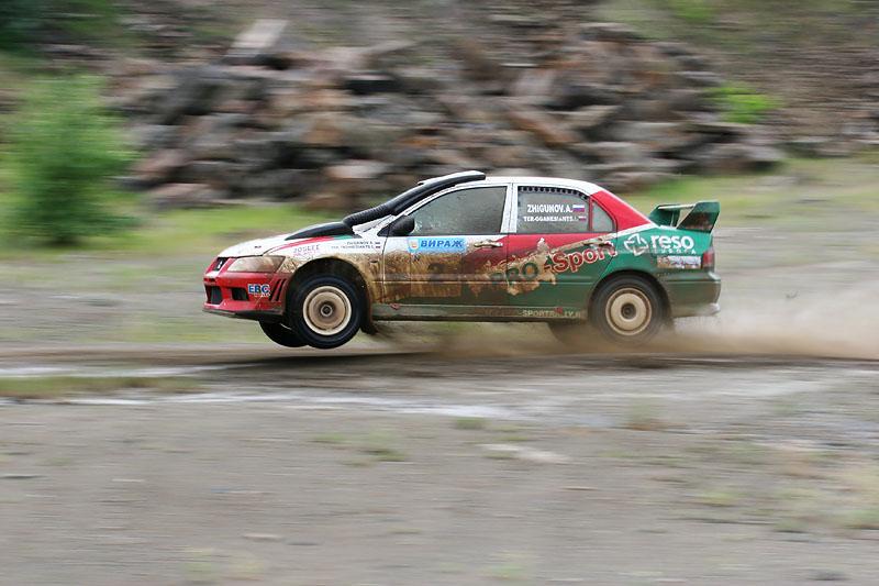 "фото ""Ралли Гуково 2005 (3). Победитель в воздухе"" метки: спорт, репортаж,"