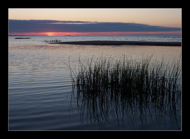 "photo ""Silence"" tags: landscape, sunset, water"