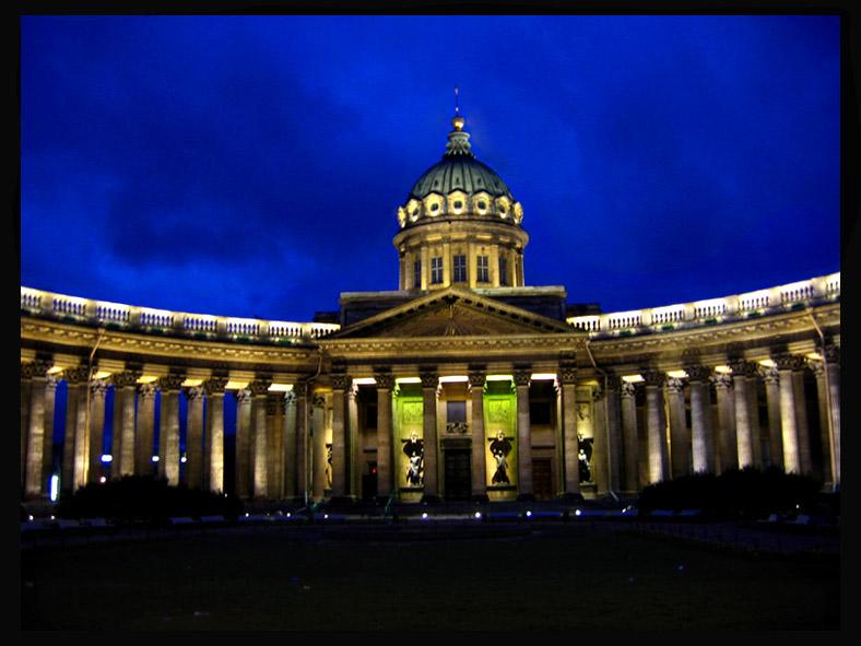 "photo ""Kazanskii in night"" tags: architecture, landscape, night"