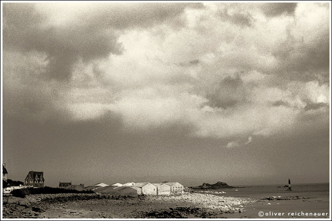 "photo ""Roskoff, Bretagne"" tags: travel, black&white, Europe"