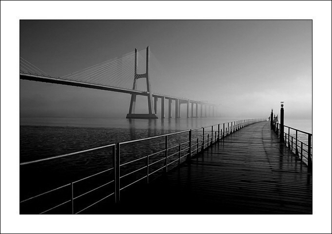 "photo ""Bridge"" tags: architecture, black&white, landscape,"
