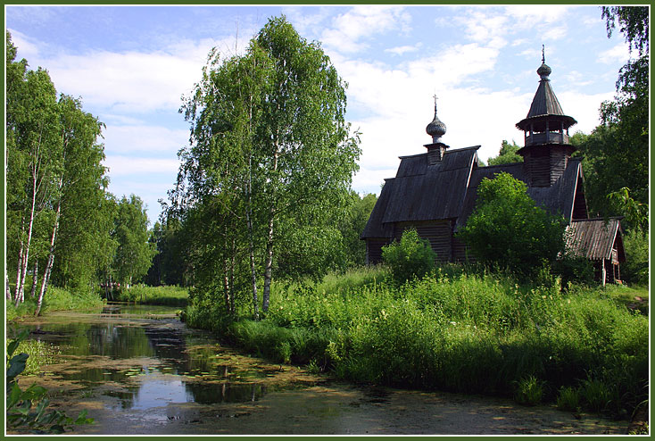 "photo ""Wooden churches of Russia..."" tags: travel, landscape, Europe"