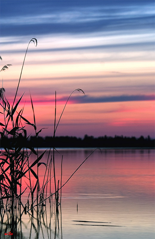 "photo ""Calmness"" tags: landscape, sunset, water"