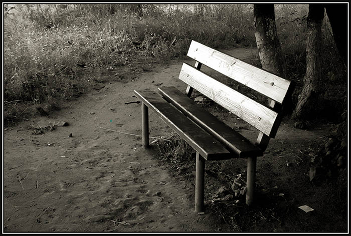 "photo ""Waiting for you"" tags: genre, black&white,"