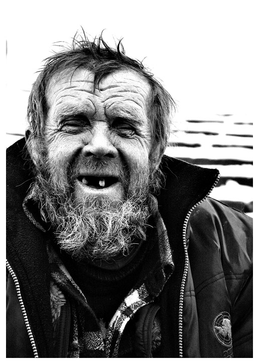 "photo ""Portraits happen also such or... A sight at Russia"" tags: black&white, portrait, man"
