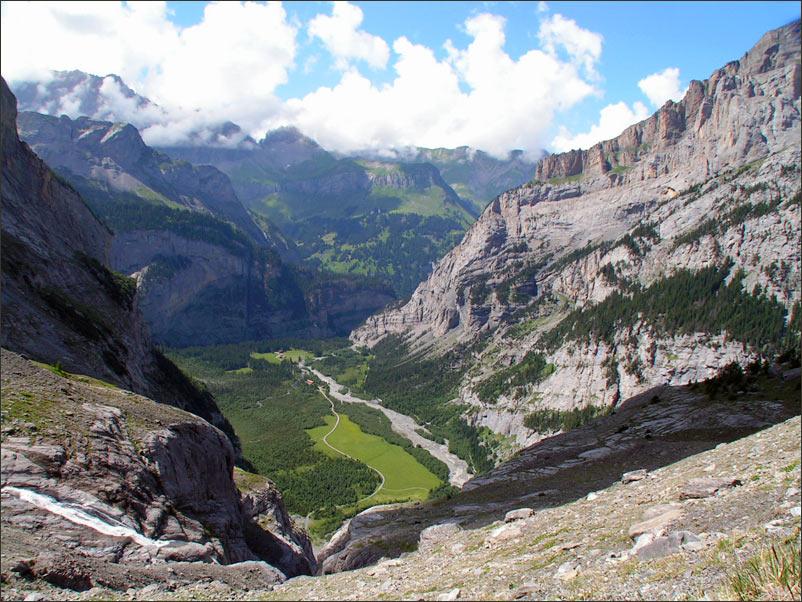 "фото ""Kandersteg.Швейцарские Альпы.1956 м."" метки: пейзаж, горы"