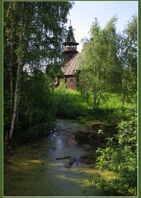 "photo ""Wooden churches of Russia #2"" tags: travel, landscape, Europe"