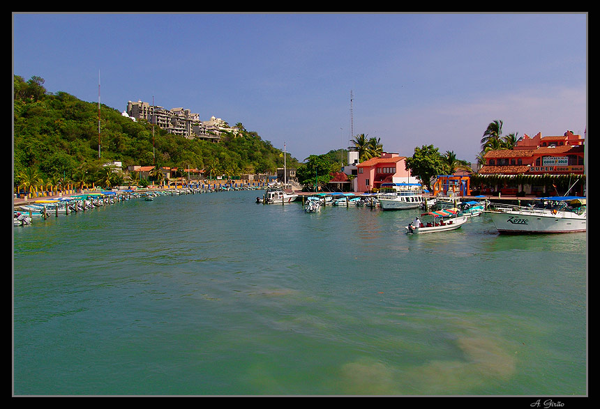 "photo ""Marina of Huatulco"" tags: landscape, travel, North America, summer"