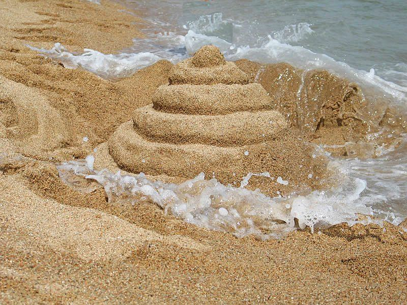 "photo ""Sand tower"" tags: landscape,"