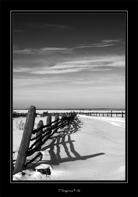 "photo ""T. Graphics # 10"" tags: black&white, landscape, winter"