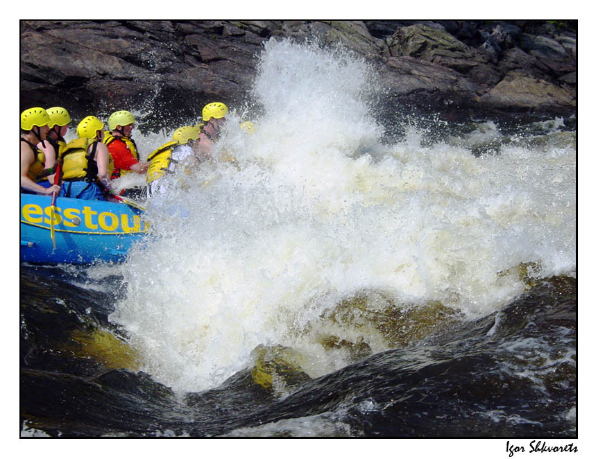 "photo ""Rafting"" tags: landscape, sport, water"