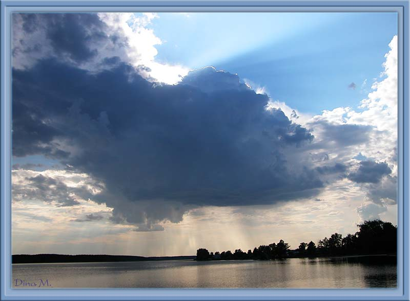 "photo ""Rain..."" tags: landscape, clouds, water"