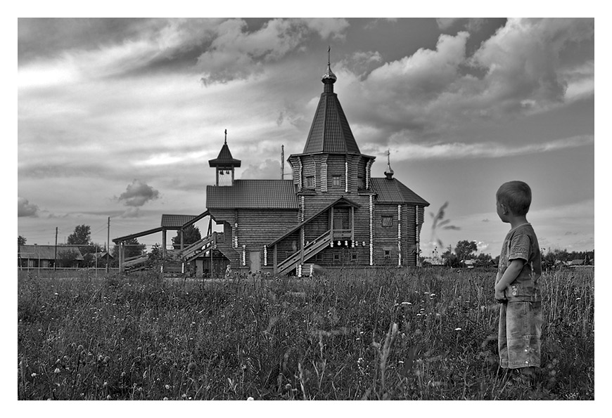 "photo ""there God lives"" tags: black&white,"