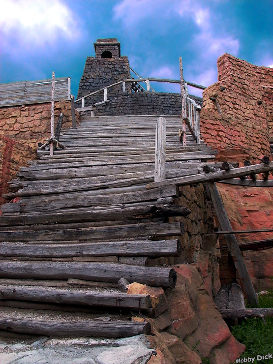 "photo ""Step-ladder to the sky"" tags: misc., old-time,"
