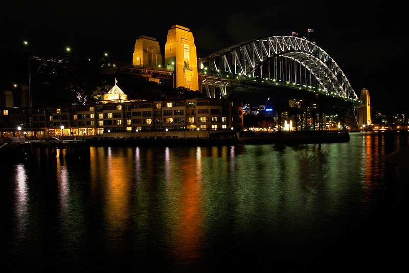 "фото ""The Sydney Harbour Bridge"" метки: архитектура, пейзаж, ночь"
