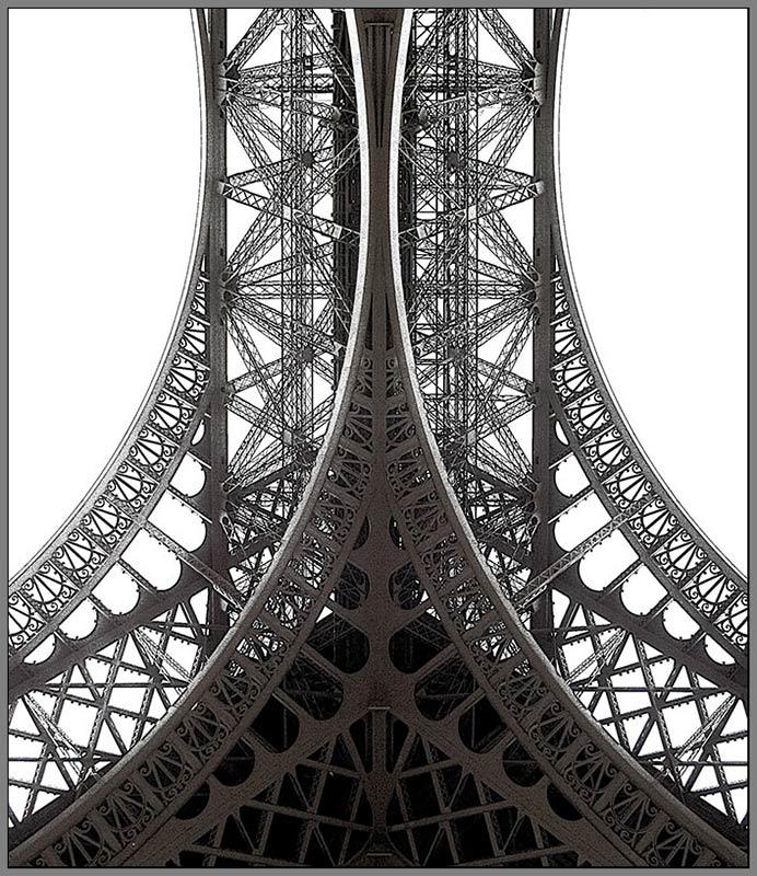 """photo """"Tour d'Eiffel. Details -2"""" tags: travel, architecture, landscape, Europe"""