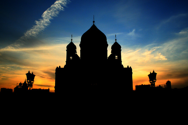 "photo ""Silhouette"" tags: architecture, landscape, sunset"