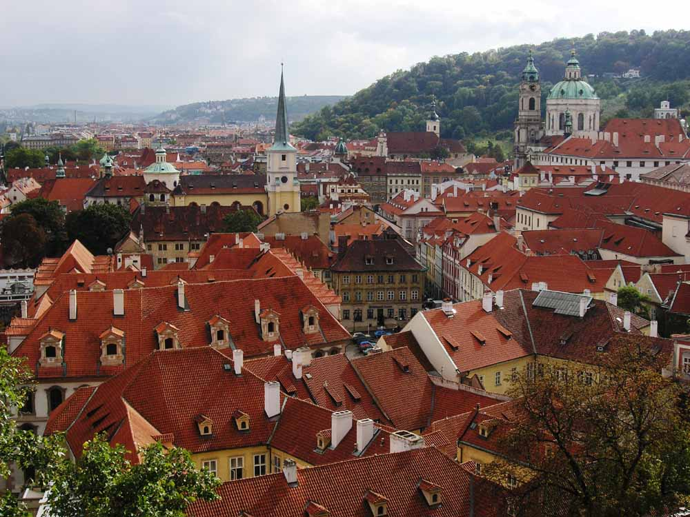 "photo ""Red-roof Prague"" tags: travel, Europe"