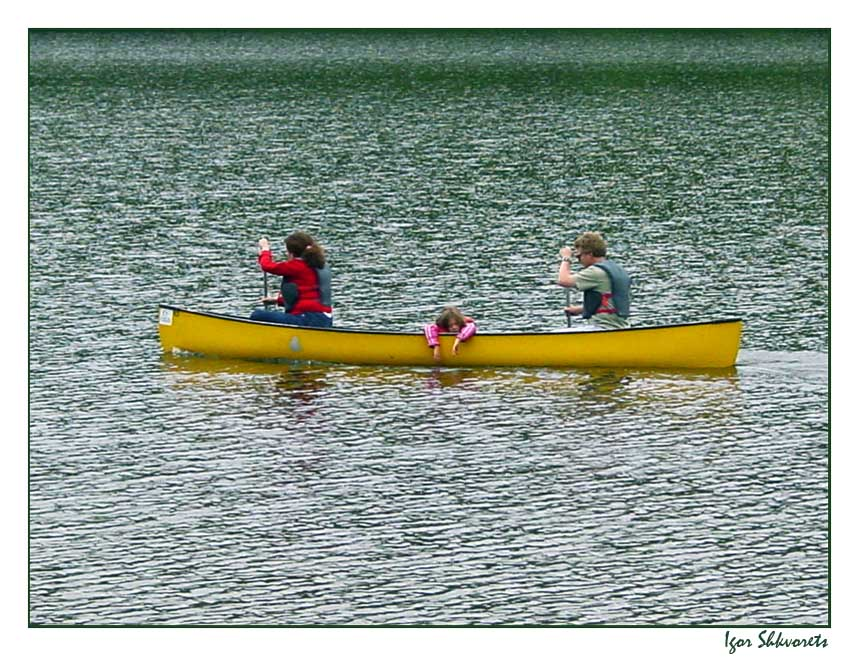 """photo """"Family Boat"""" tags: landscape, genre, water"""