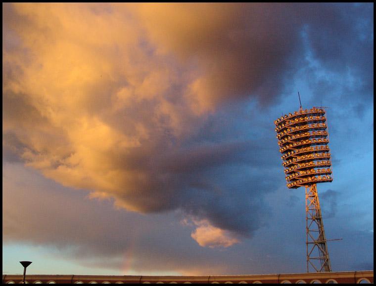 "фото ""Закат над стадионом (2)"" метки: пейзаж, закат"