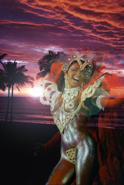 "photo ""Carnival"" tags: montage, portrait, woman"