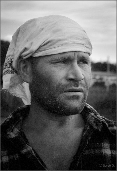 "photo ""Ivan on a nickname UnShaven"" tags: portrait, black&white, man"