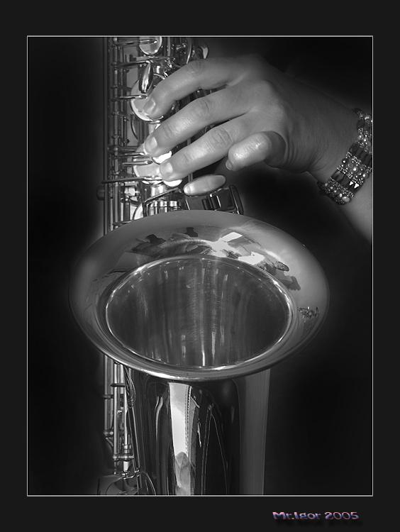 "photo ""Jazz"" tags: portrait, black&white,"
