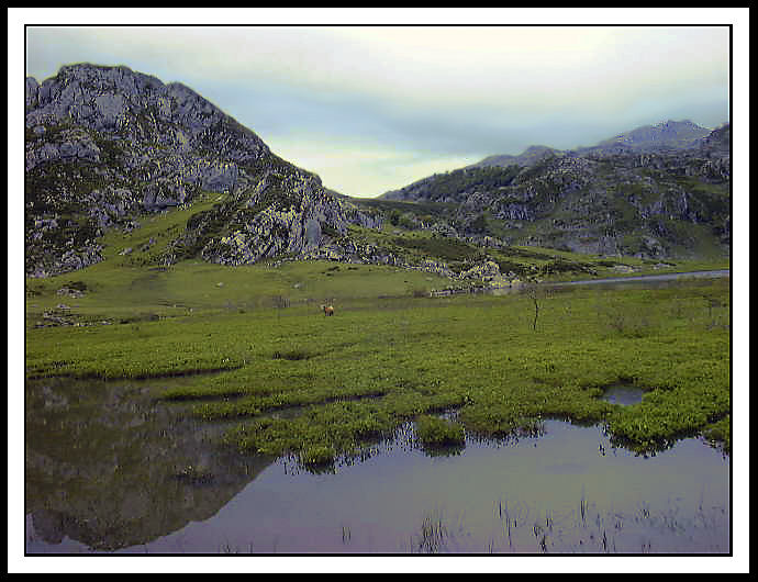 "photo ""Lake on mountain"" tags: landscape, mountains, water"