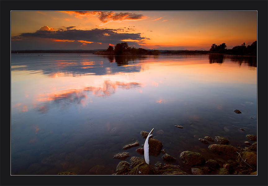 "photo ""About the Feather"" tags: landscape, summer, sunset"