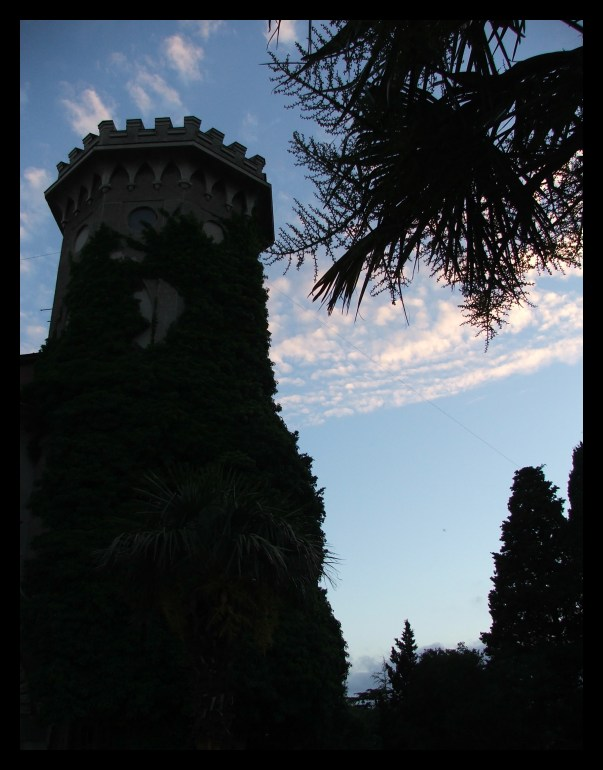 """photo """"Temple"""" tags: architecture, landscape, sunset"""