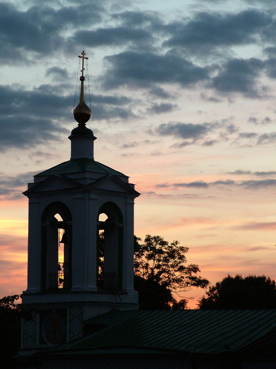 "photo ""Sunset in Moscow"" tags: architecture, landscape, sunset"
