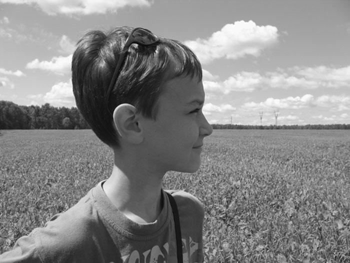 "photo ""The catcher in the rye"" tags: portrait, black&white, children"