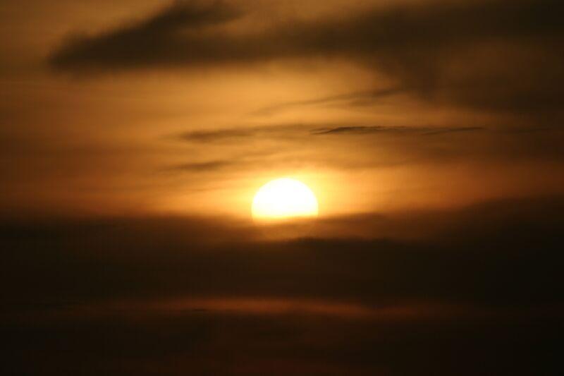 """photo """"Sun eye"""" tags: landscape, sunset"""