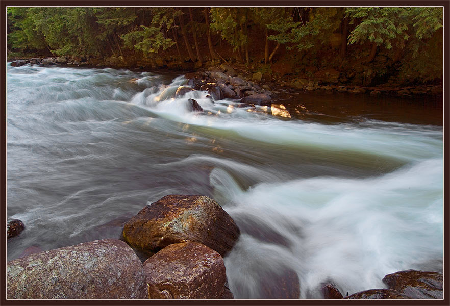 "photo ""On the Fast River"" tags: landscape, summer, water"