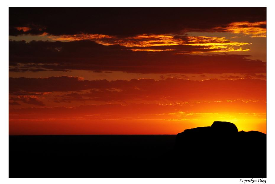 "photo ""Sunset, Graaff-Reinet, (South africa)"" tags: travel, landscape, Africa, sunset"