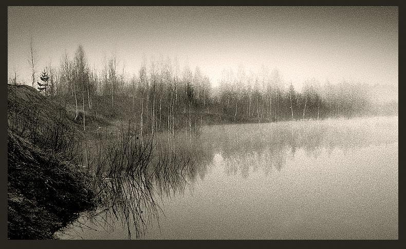 """фото """"Без названия"""" метки: черно-белые, пейзаж, закат"""