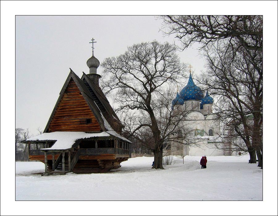 "photo ""Wooden churches of Russia."" tags: architecture, landscape,"