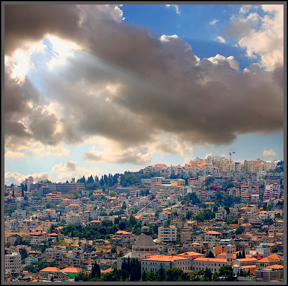 "photo ""JESUS'S CITY (NAZARET)"" tags: architecture, landscape, clouds"