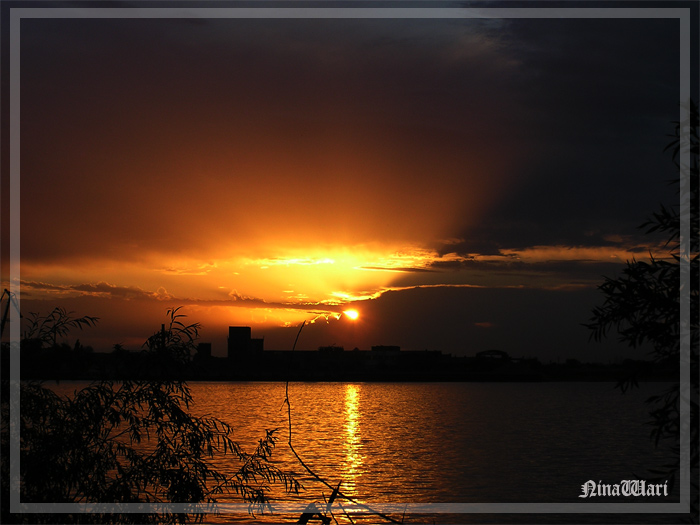 "photo ""The sun is soothing my skin"" tags: landscape, sunset"