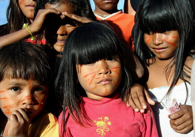 "фото ""Pataxo's Children (Brazilian indians)"" метки: портрет, путешествия, Южная Америка, дети"