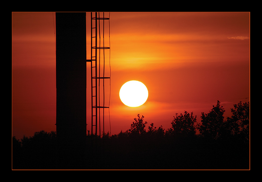 "photo ""El ocaso desde mi balcon..."" tags: landscape, sunset"