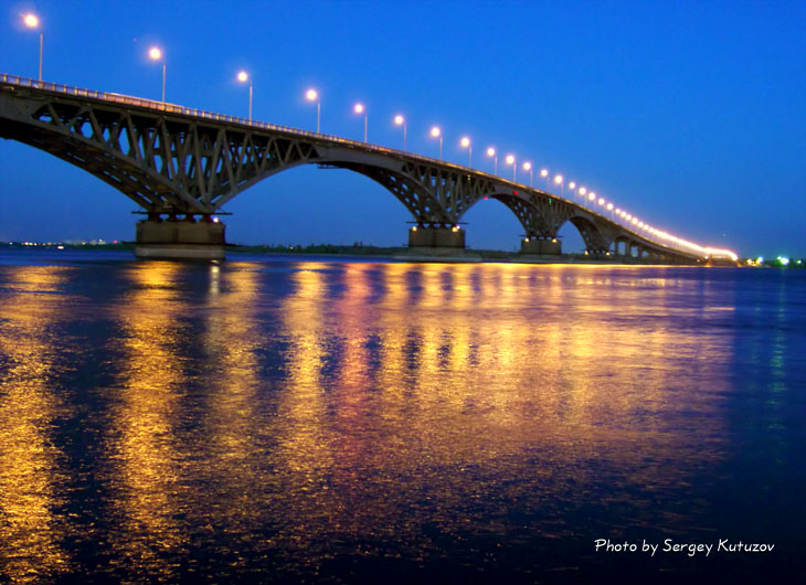 "photo ""The bridge through Volga"" tags: landscape, architecture, water"