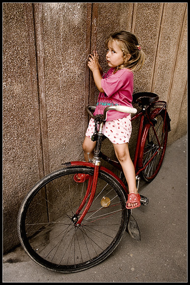 "photo ""little rider"" tags: portrait, reporting, children"