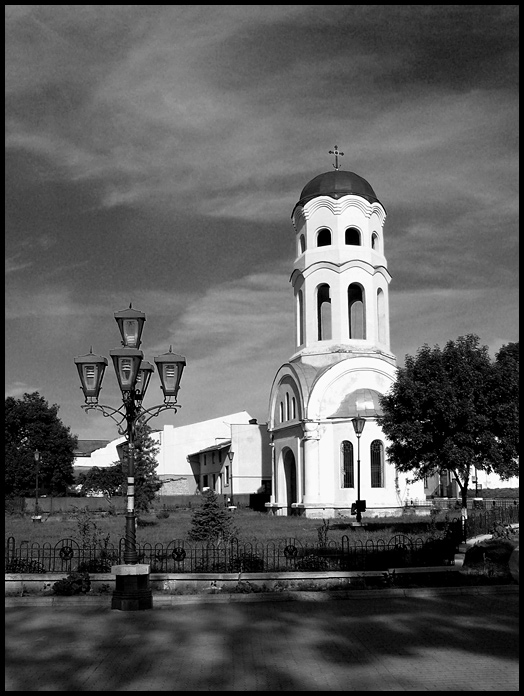 "photo ""Belfry"" tags: architecture, black&white, landscape,"