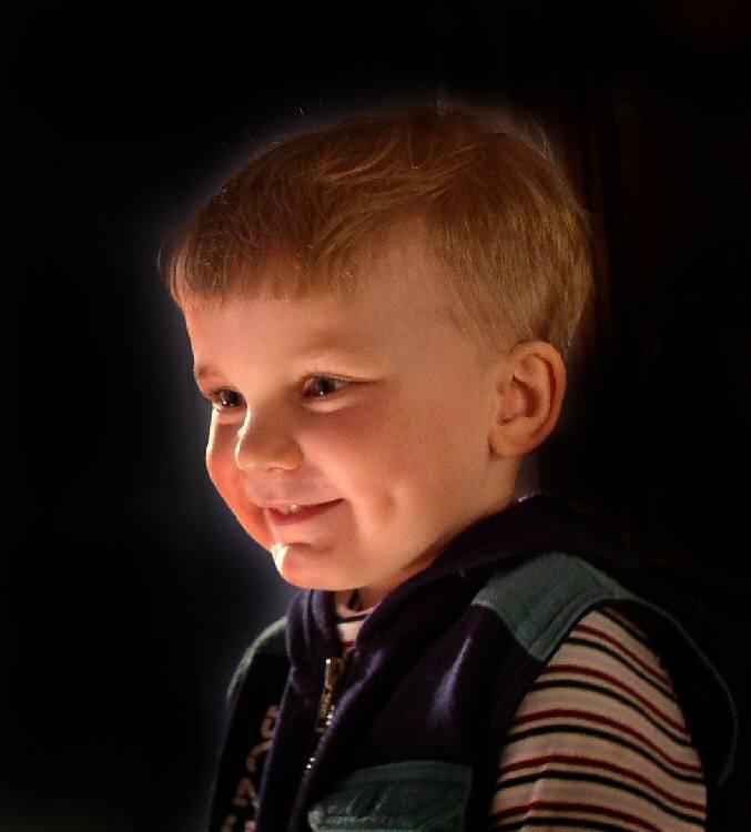 "photo ""Smile for sun"" tags: portrait, children"