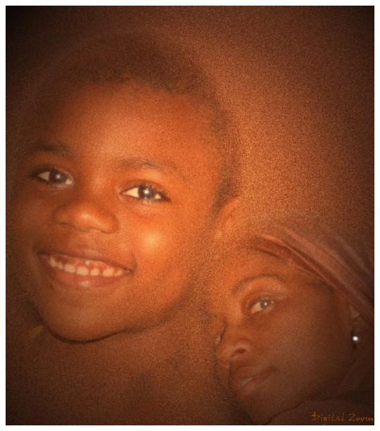 "photo ""mother & son"" tags: portrait, woman"