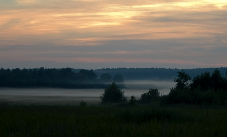 "photo ""Near Moscow evenings"" tags: landscape, sunset"